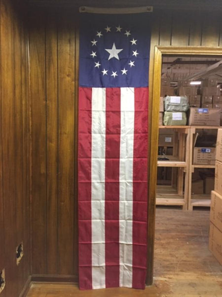 Colonial Pulldown 8'x2' American Embroidered Stars & Sewn Stripes 100% Rough Tex Nylon