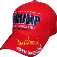 Cap - Trump KAF 45th Signature With Shadow