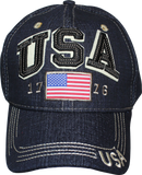 Cap - USA 3D 1776 Blue Jean