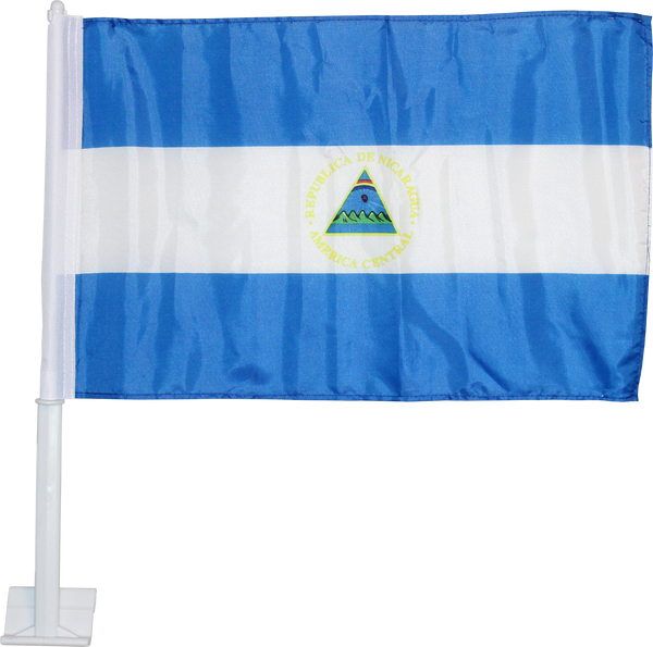 *TEMPORARILY OUT OF STOCK* Nicaragua - 12''X18'' Car Flag 68D