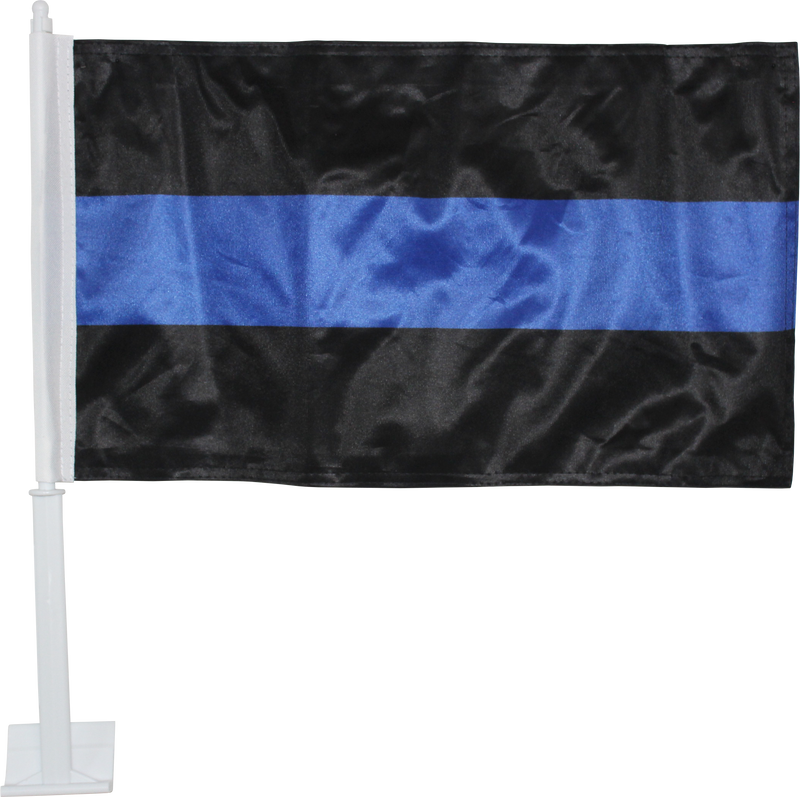 POLICE THIN BLUE LINE CAR FLAG DOUBLE SIDED ROUGH TEX DOUBLE SIDED 115D