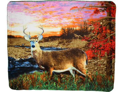 DEER POLAR FLEECE BLANKET