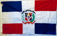 Dominican Republic 3'X5' Nylon Embroidered Flag