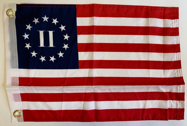 "Betsy Ross II - 12""X18"" Rough Tex® 100D Flag With Grommets"