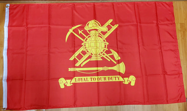 Fire Fighter Official Flag 3'x5' 100D Flag Rough Tex ® American Law Enforcement