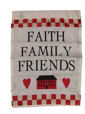 Faith Family Friends Printed Garden Flag Rough Tex ® Brand