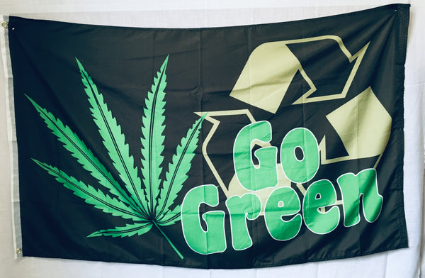 Go Green Recycle FLAG 3'X5' Rough Tex® 100D