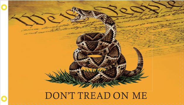 Gadsden (We The People) 2'x3' Flag ROUGH TEX® 68D DBL Sided
