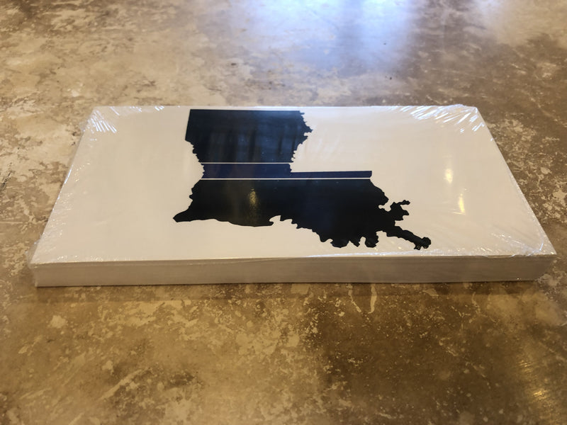 LOUISIANA POLICE MEMORIAL MAP BUMPER STICKER PACK OF 50 BUMPER STICKERS MADE IN USA WHOLESALE BY THE PACK OF 50!
