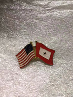 USA SERVICE STAR - 1 GOLD STAR Cloisonne Hat & Lapel Pin