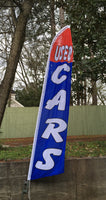 USED CARS BLUE SWOOPER FLAG