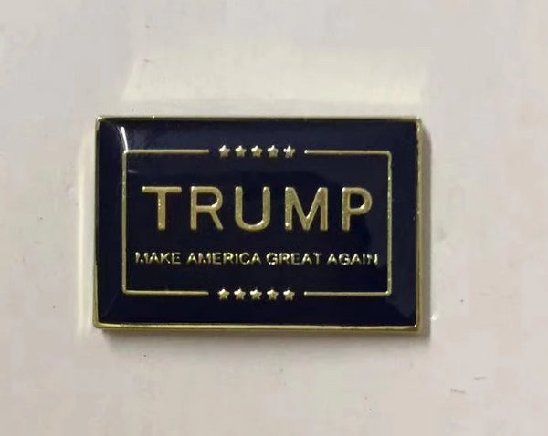 TRUMP Make America Great M A G A Blue & Gold Cloisonne Hat & Lapel Pin