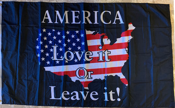 AMERICA LOVE IT OR LEAVE IT FLAG ROUGHTEX® 100D 3'X5'