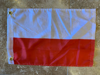 Poland Civil Flag With Grommets-100D 12x18 ROUGH TEX®