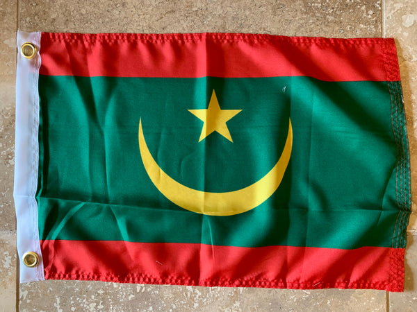 Islamic Republic Of Mauritania 2017 Current Flag With Grommets 12'X18' Rough Tex® 100D
