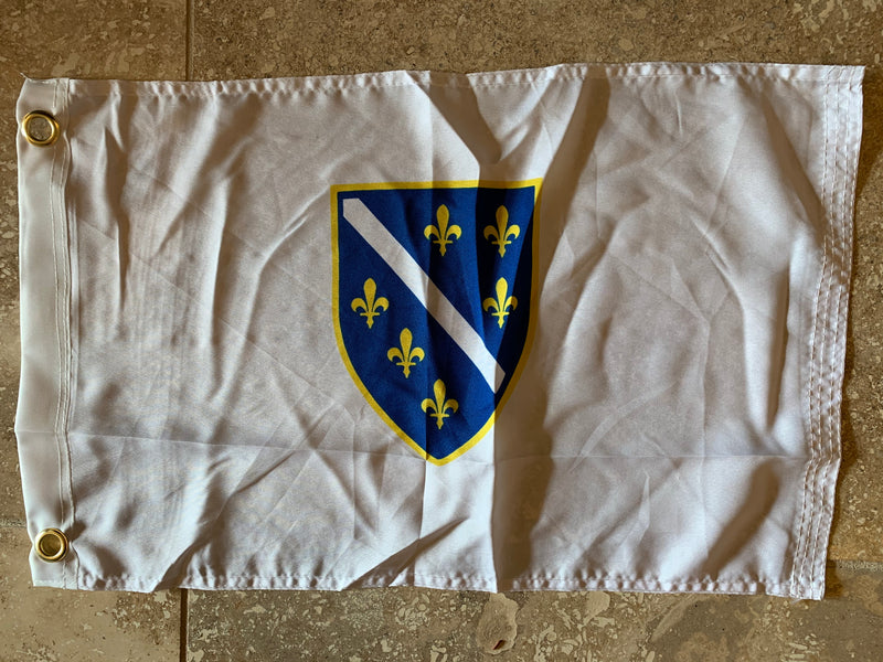 Flag Of The Republic Of Bosnia and Herzegovina with Grommets 12'X18' Rough Tex® 100D