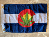 Colorado Marijuana Flag with Grommets 12'X18' Rough Tex® 100D