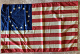 "Vintage Betsy Ross Flag With Sleeve 24""X48"" -  Rough Tex® 100D"