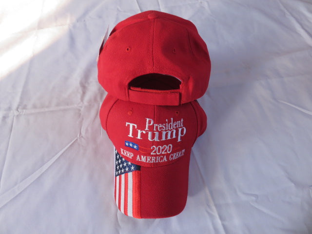 President Trump 2020 Red KAF Keep America FIrst USA Brim - Cap