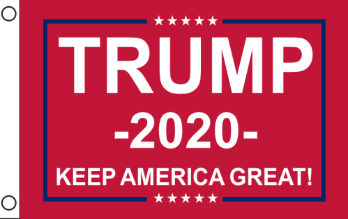 Trump 2020 Keep America Great KAG Red - 12''X18'' Car Flag
