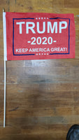 12 Stick Flags Red Trump 2020 KEEP AMERICA GREAT! - 12x18 Rough Tex ®
