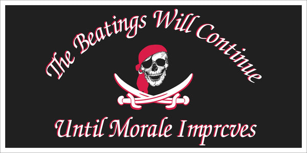 The Beatings Will Continue Until Morale Improves Jolly Roger Pirate Bumper Sticker