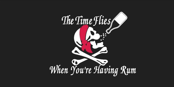 The Time Flies When You're Having Rum Jolly Roger Pirate Bumper Sticker