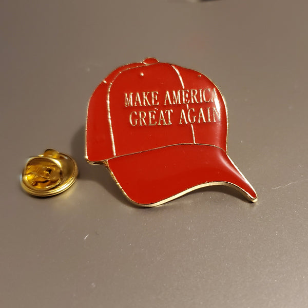 Trump Red MAGA Hat Lapel Pin