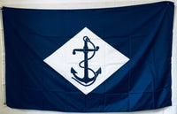 UNITED STATES NAVY WHITE DIAMOND AND ANCHOR 1864-1959 100D Rough Tex ® 3'X5'