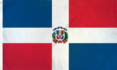 3'X5' 100D DOMINICAN REPUBLIC FLAG