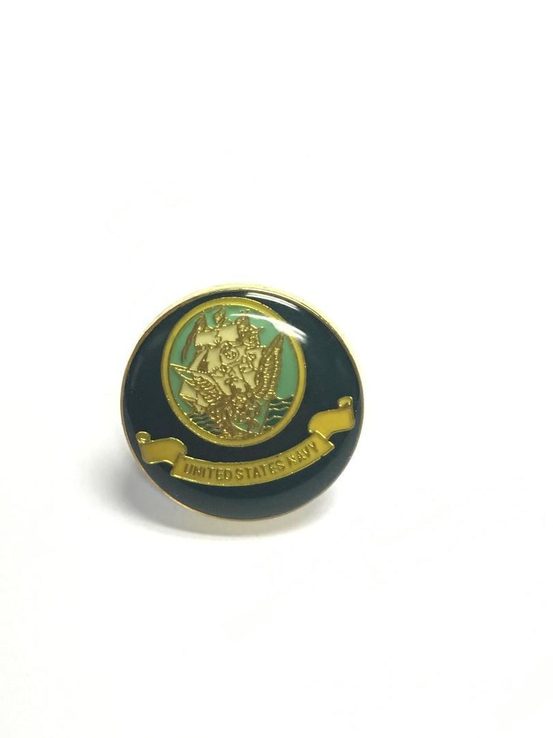 US NAVY ROUND FLAGS Cloisonne Lapel Pins