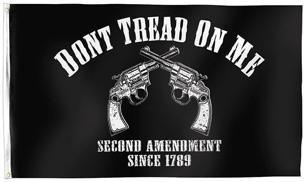 DON'T TREAD ON ME 2ND AMENDMENT PISTOLS FLAG 3X5 POLYESTER