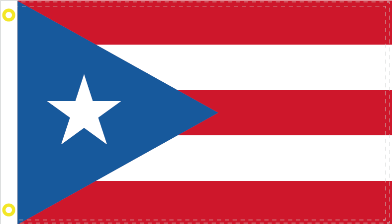 PUERTO RICO LIGHT BLUE OFFICIAL FLAG 3X5