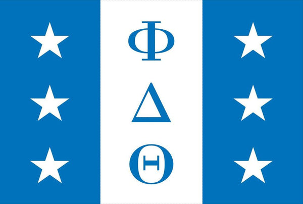 PHI DELTA THETA FLAG WITH GROMMETS FLAG-  12'X18' Rough Tex® 100D