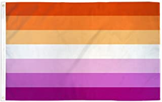 12 Lesbian Sunset 12''x18'' Stick Flag - ROUGH TEX®100D