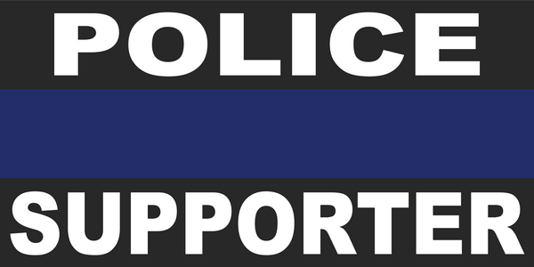 Police Supporter Blue Line - Bumper Sticker