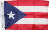 Puerto Rico - 12''X18'' Flag Rough Tex® 68D With Grommets