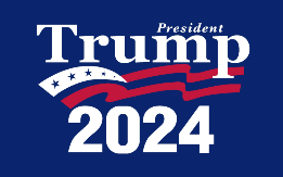 "President Trump 2024 12""X18"" Car Flag Rough Tex® DBL Sided"