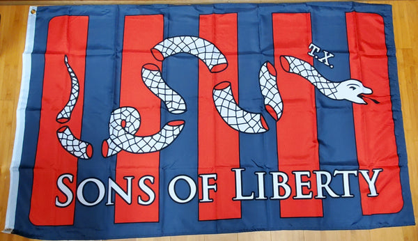 Sons of Liberty Rattlesnake American Texas Original (Pre Betsy Ross) 3'x5' 100D American Revolution Flag Rough Tex ®