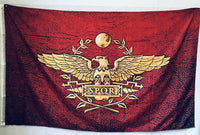 SPQR Burgundy Flag 100D Rough Tex ® 3'x5'