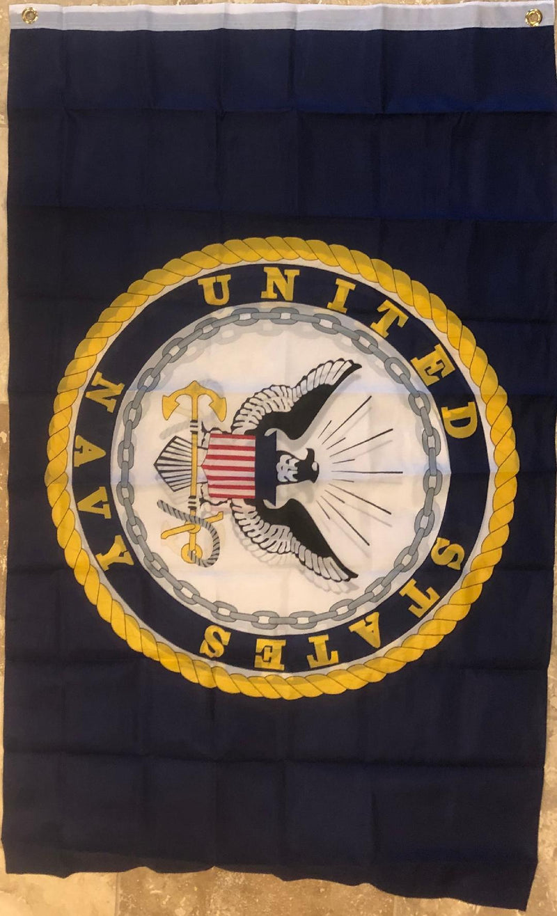 UNITED STATES NAVY DOUBLE SIDED EMBLEM 3'X5' FLAG SUPER POLY