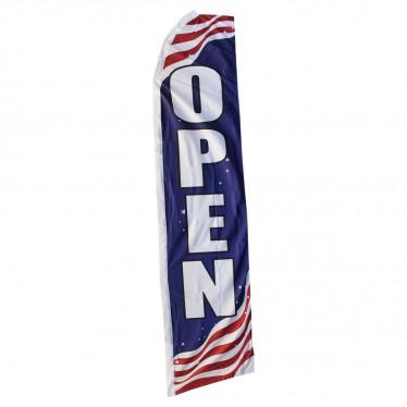 OPEN (AMERICAN FLAG PATTERN) SWOOPER FLAG