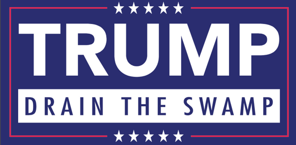 Trump Drain The Swamp - Bumper Sticker