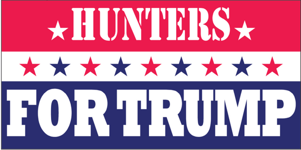Hunters For Trump -  Bumper Sticker