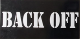 Back Off - Bumper Sticker