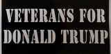 Veterans For Donald Trump- Bumper Sticker