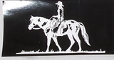Cowgirl On Horse- Bumper Sticker