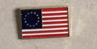 Betsy Ross Flag- Cloisonne Hat & Lapel Pin