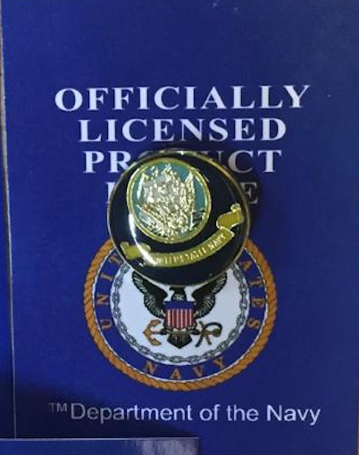 United States Department Of the Navy Cloisonne Hat & Lapel Pin-Officially Licensed Product