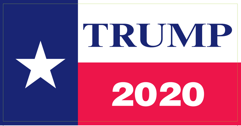 Trump 2020 Star - Bumper Sticker
